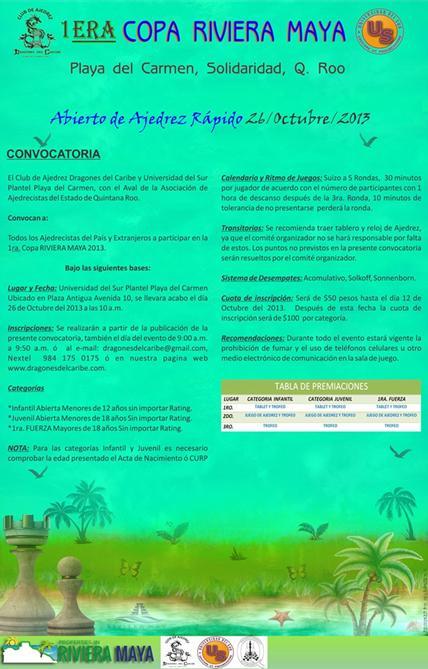 1ra copa Riviera Maya, Quintana Roo