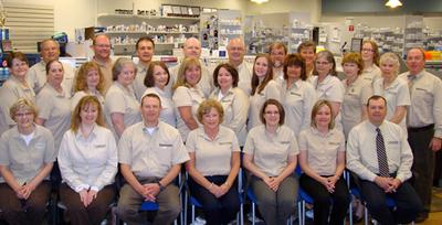 Group photo at Stephens Pharmacy