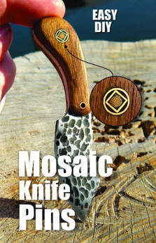 How to easily make Mosaic pins for custom knife making. www.DIYeasycrafts.com