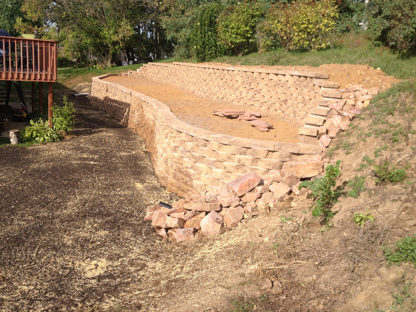 Eau Claire WI Landscape Design Retaining Wall, Patio, Outdoor Fire Pit
