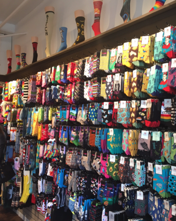 sock wall display