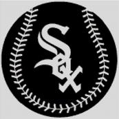 Cross Stitch Chart pattern of the Chicago White Sox