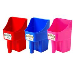 3 Quart Feed Scoops come in a variety of colors, Berry Blue, Blue, Green, Hot Pink, Lime Green and Black