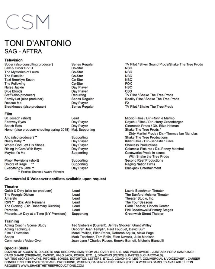 Download Toni D'Antonio Resume