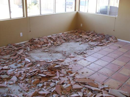 Saltillo Tile Removal