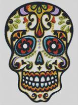 Cross Stitch Chart of Sugar Skull No 18