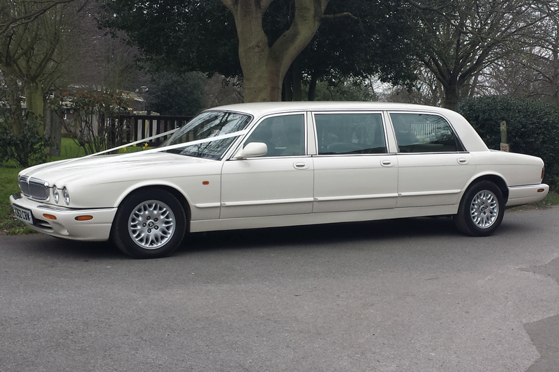 Daimler Sovereign 6 door limousine Essex hire from Essex Wedding Cars