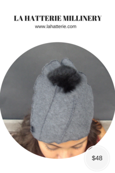 Fall/Winter Casual- Felt Skull Hat