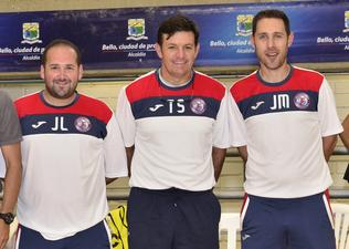 U.S. Youth Futsal girls coaching staff in Colombia