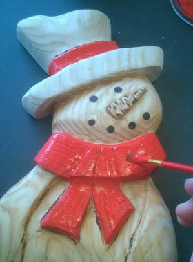 Easy Diy Wood Snowman Carved Entirely With Power Tools