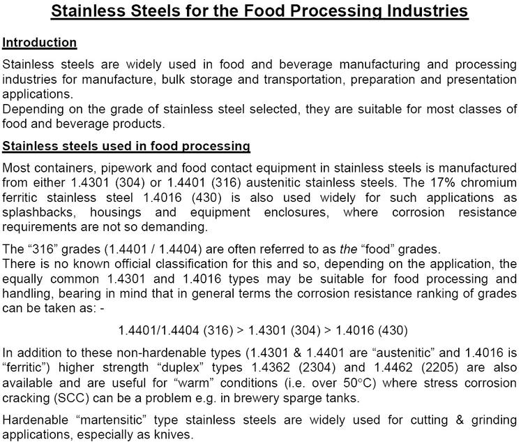 stainless steel use