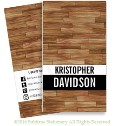 Social Media Quality Custom Carpentry Business Card