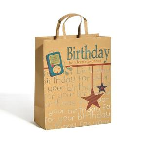 kraft birthday paper bag