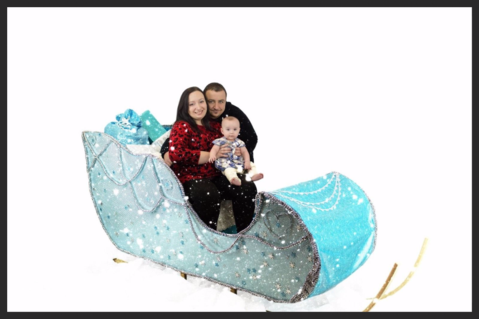 Giant Life Size Winter Santa Sleigh Prop Hire