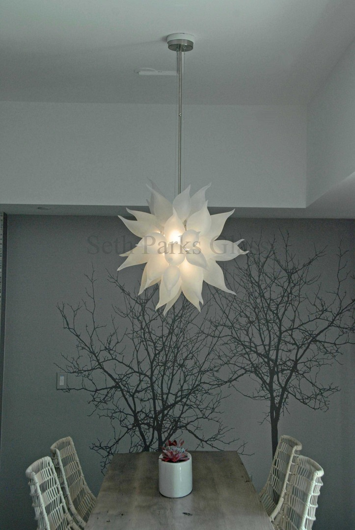 Seth parks glass blown glass chandelier aloadofball Choice Image