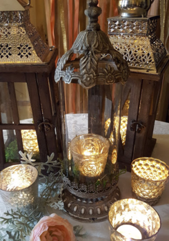 Lanterns and Mercury Glass for Wedding Decor in Minnesota