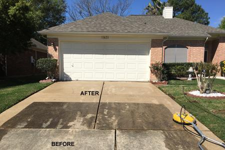 Driveway Pressure Washing in Houston TX