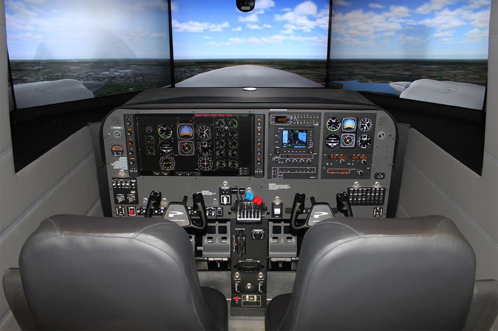 Advance training on flight simulator, pilot training