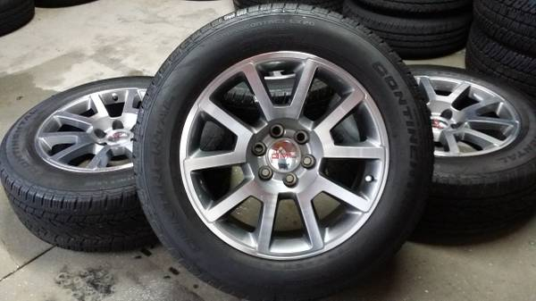 sierra yukon wheels factory gmc set oem wheel tire