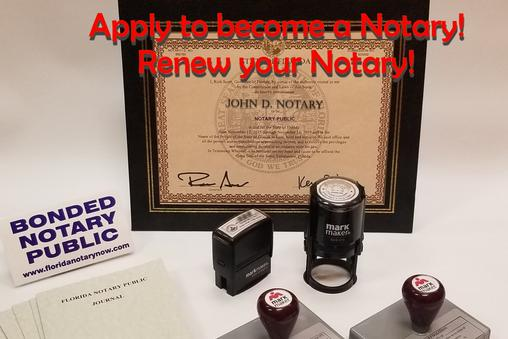 Apply for your Notary, Notary application, floridanotarynow.com