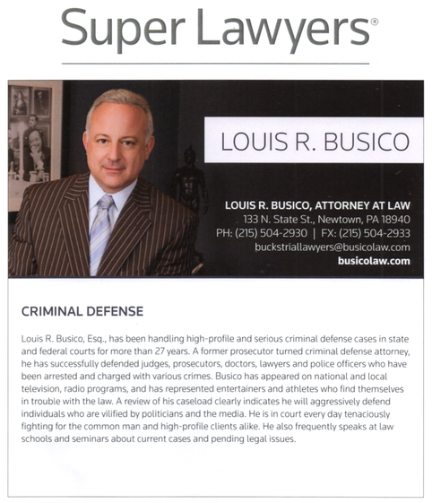 Louis Busico Attorney Philadelphia Magazine Super Lawyer