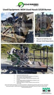 Use Hauck SJ520 Burner with Stand for Asphalt Plants
