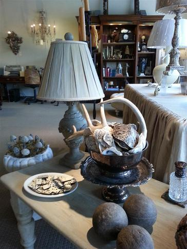 decor accents antique vintage antlers bocci balls dominos ivory concrete and plaster mushrooms turtle shells sea shells