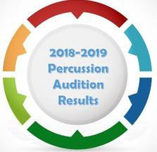 2018 - 2019 Percussion Results