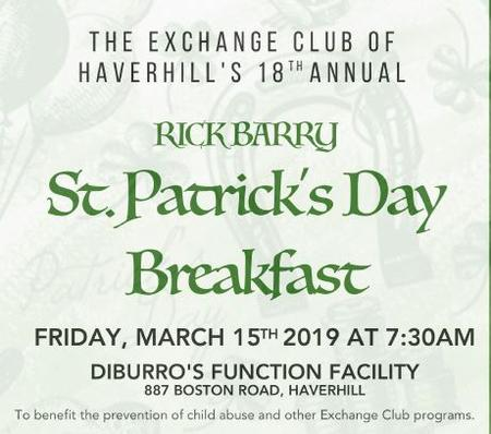 2019 St Patrick's Breakfast