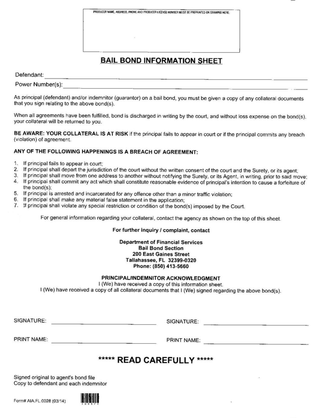 Bail bond agreement platinumwayz