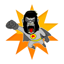 Ape Hero Sticker