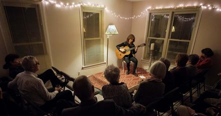 private house concert in Richmond, Virginia