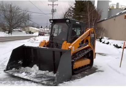 High Capacity Snow Bucket for Skid Steer