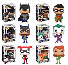 Animated Batman, Robin, Harley Quinn, Batgirl Funko Pop available now at the The Retro Store Pasadena CA