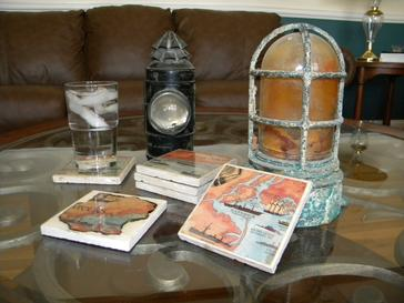 DIY Nautical Decor drink coasters. www.DIYeasycrafts.com