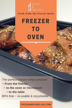 Freezer to Oven to Table - oven/microwave/freezer safe containers