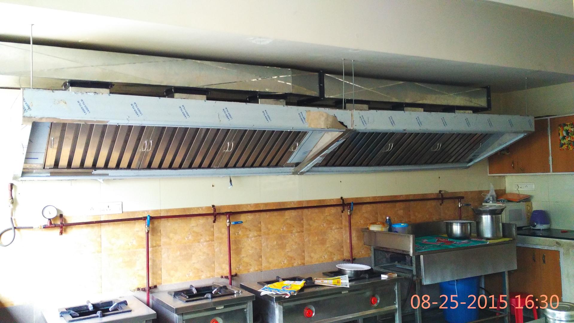 Restaurant Kitchen Vent Hood kitchen exhaust hood cleaning for restaurants kescor. industrial