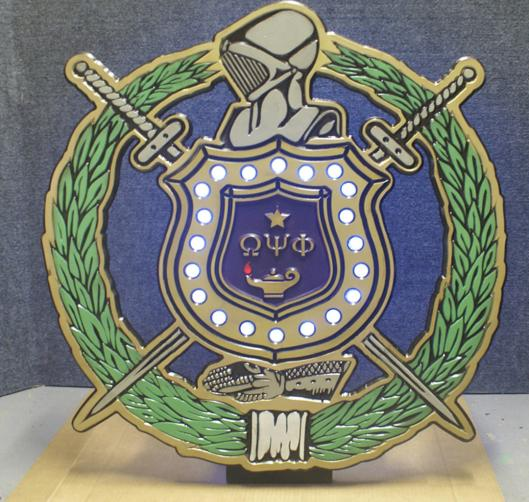 Omega Psi Phi Chapter Shield
