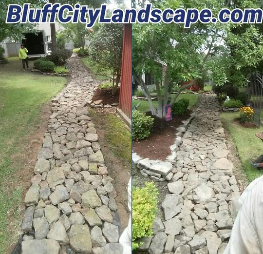 Bartlett Landscape Dry Creek Bed Drainage
