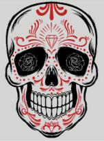 Cross Stitch Chart of Sugar Skull No 22