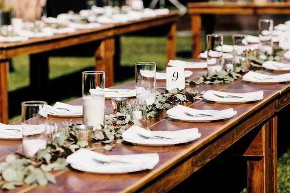 Rustic Parties Farmhouse Tables Wedding And Party