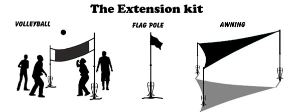The Extension Kit - Volleyball, Flag Pole, Awning
