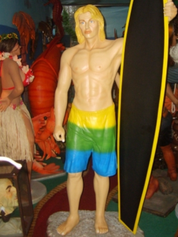 Life Size Surfer Statue Event Prop Hire | Hawaiian theme