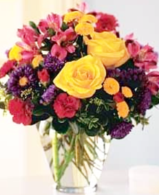 Mixed Bouquet with Yellow Roses | Mother's Day Flower Bouquet | The Little Flower Shop