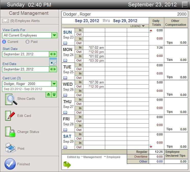 Time Calculator / Timesheet / Time Card Software - Econsoft