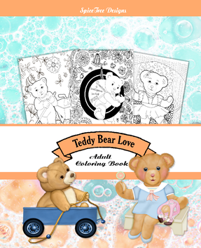 Teddy Bear Love Adult Coloring Book