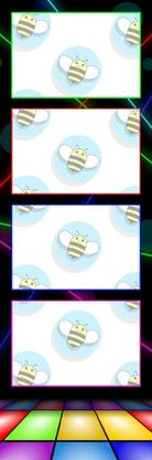 Bumblebee Booths Photo Strip sample #40