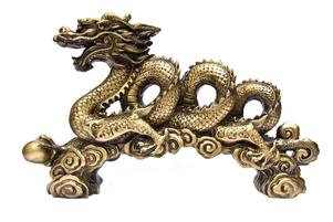 Chinese golden dragon - emblem of Tai Chi tenets.