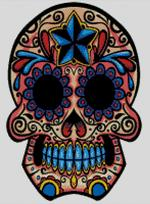 Cross Stitch Chart of Sugar Skull No 38