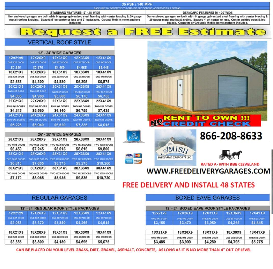 buildings carport garage metal sale types of garages houses for prices building online rv steel kits